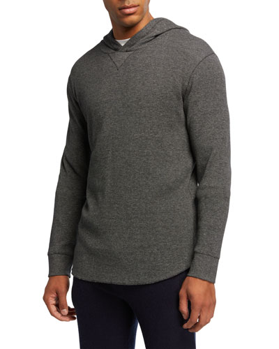 Men's Yarn-Dyed Thermal Pullover Hoodie