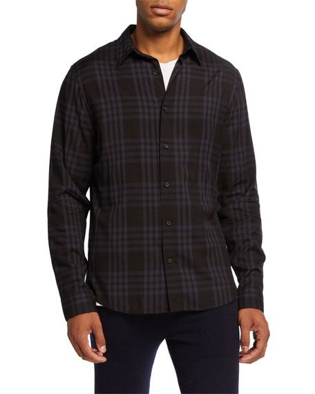 Image 1 of 1: Men's Two-Toned Plaid Sport Shirt