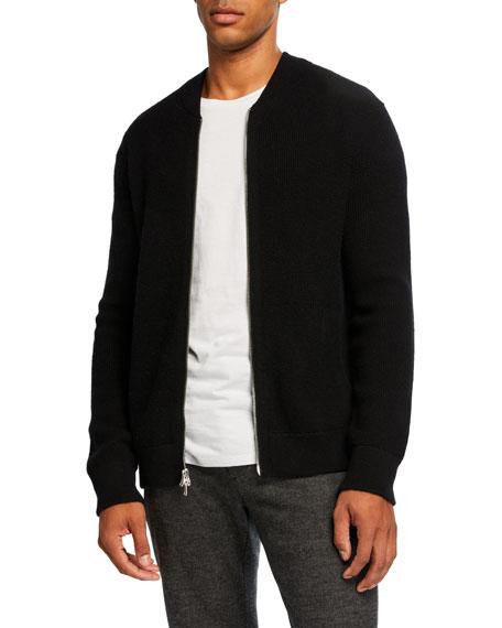 Men's Thermal Zip-Front Sweater