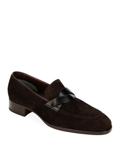c2f45e30c Men's Twisted Strap Suede Loafers Quick Look. TOM FORD