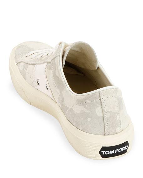 Men's Camo Suede Low-Top Sneakers