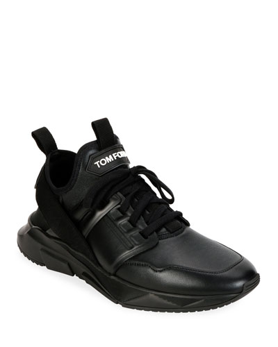 Men's Tonal Leather Trainer Sneakers