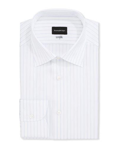 Men's Striped 100Fili Cotton Dress Shirt