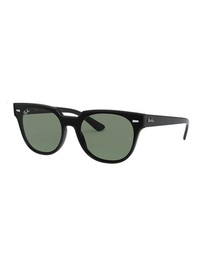 Men's Square Monochromatic Sunglasses