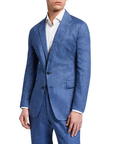 Men's Hadley Two-Button Linen Jacket