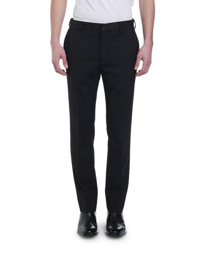 Men's FF Organza-Waist Straight-Leg Trousers