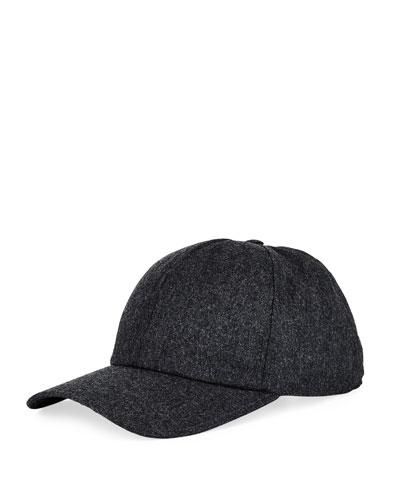 Men's Solid Wool Flannel Baseball Hat