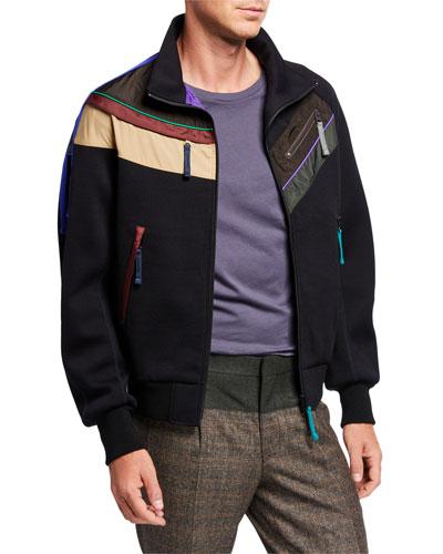 Men's Colorblock-Striped Jacket