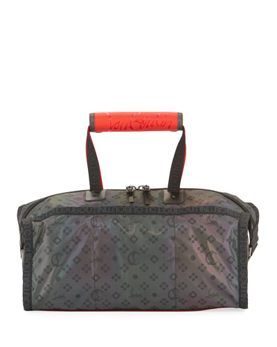 Men's Pariscuba Printed Iridescent Duffel Bag