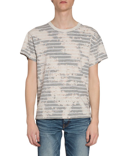 Men's Bleached Striped T-Shirt