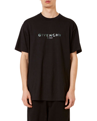Men's Logo-Typographic Oversized-Fit T-Shirt