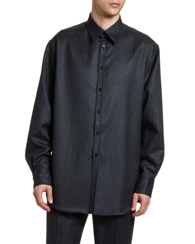 Men's Wool Sport Shirt