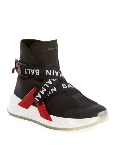 Men's Troop Strappy High-Top Sneakers