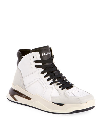 Men's B Ball Leather & Suede High-Top Sneakers