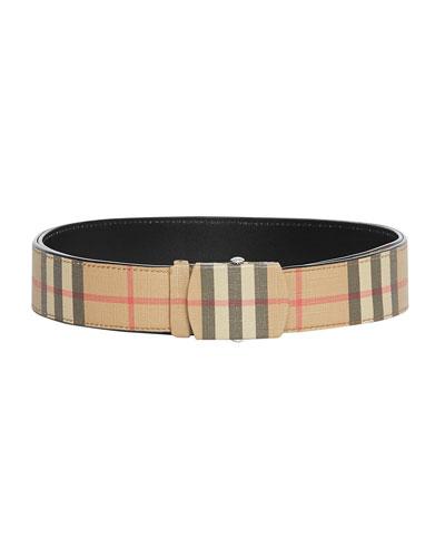 Men's Vintage Check E-Canvas Belt