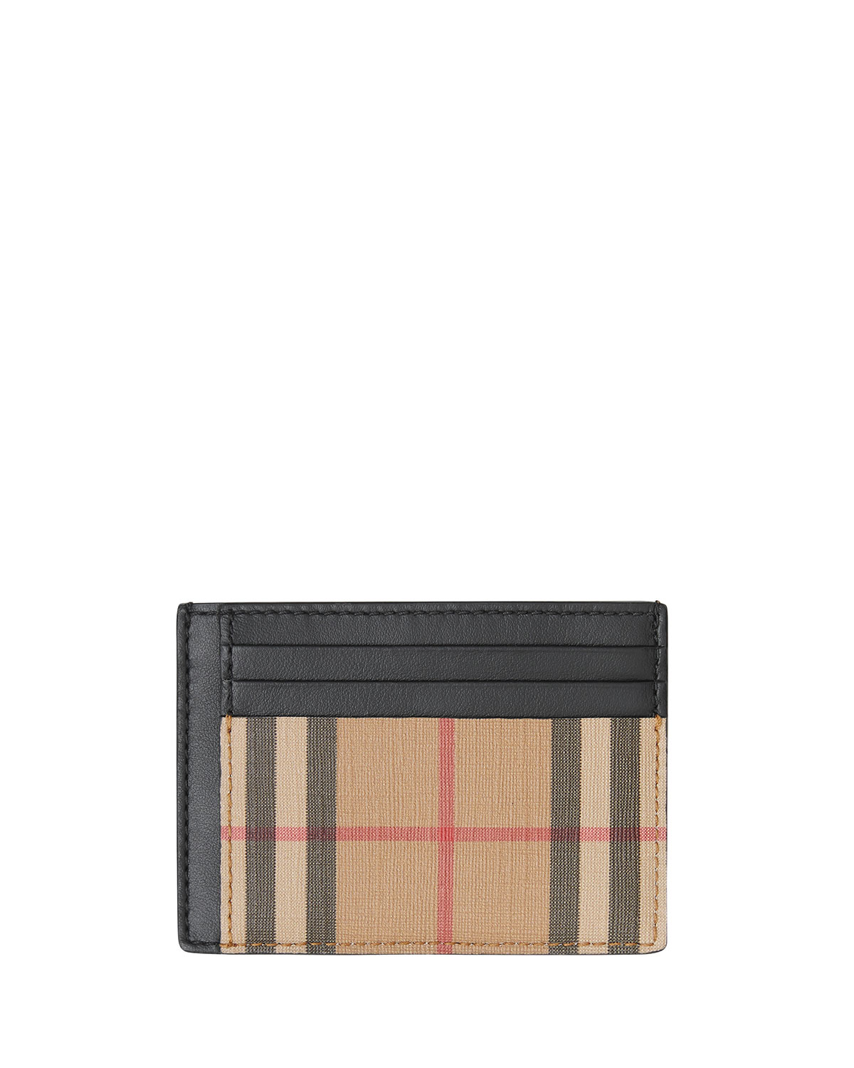 Burberry Cases Men's Chase Vintage Check Card Case with Money Clip