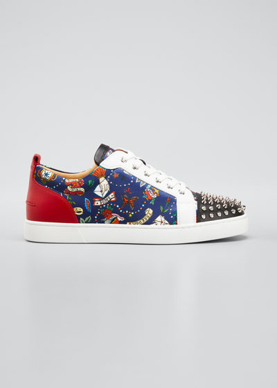 Men's Louis Junior Spiked Graphic Sneakers