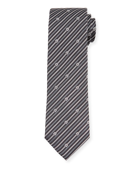 Levan Gancini Chain-Print Tie, Black