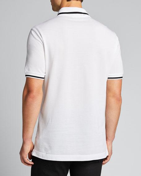 Men's Crest-Detail Pique Polo Shirt
