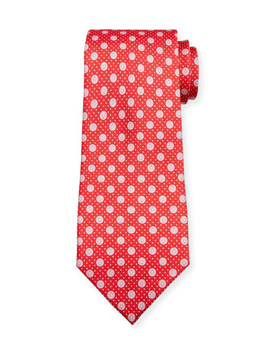 Lollo Anchor-Print Tie  Red