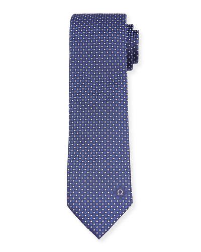 Men's Patterned Silk Twill Tie