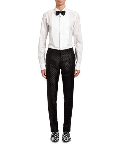 Men's Jacquard Silk Taffeta Trousers