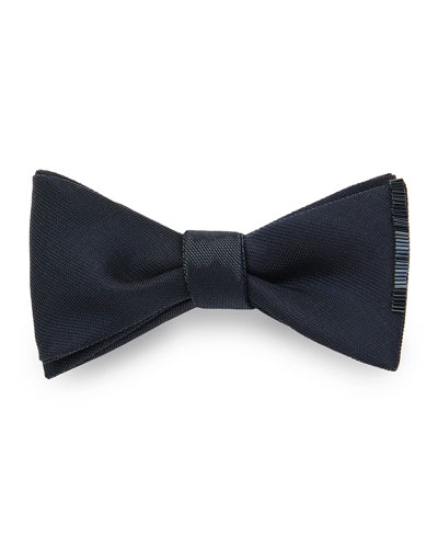 Men's Bugle Beaded-Edge Bow Tie