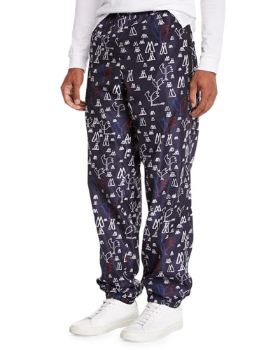 Men's Pop Print Nylon Athletic Pants