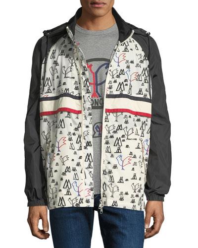 93a166d778287 Men's Moncler Genius Allos Printed Zip-Front Jacket