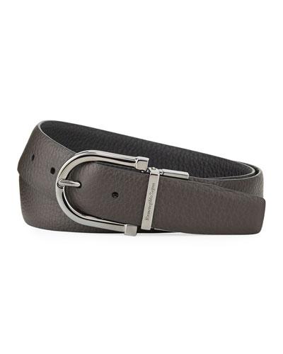 Men's Reversible Grained Leather Belt