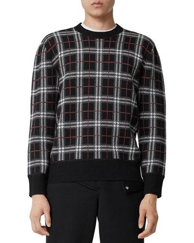 Men's Merino Check Sweater