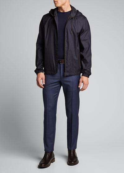 Men's Matty Super 130s Fancy Pattern Trousers