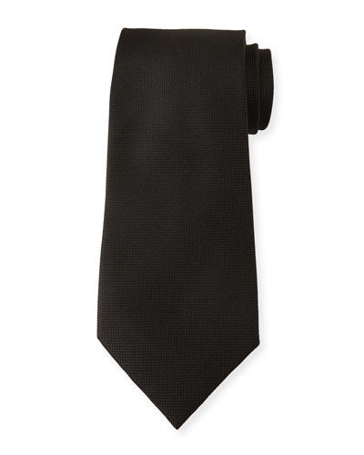 Men's Tonal Micro-Check Silk Tie