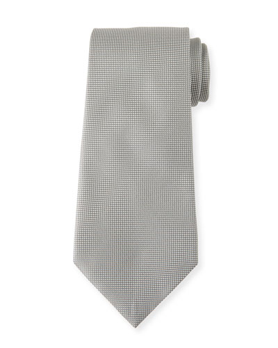 Men's Tonal Micro-Check Silk Tie