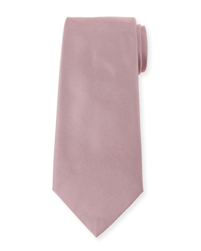 Men's Solid Ribbed Silk Tie