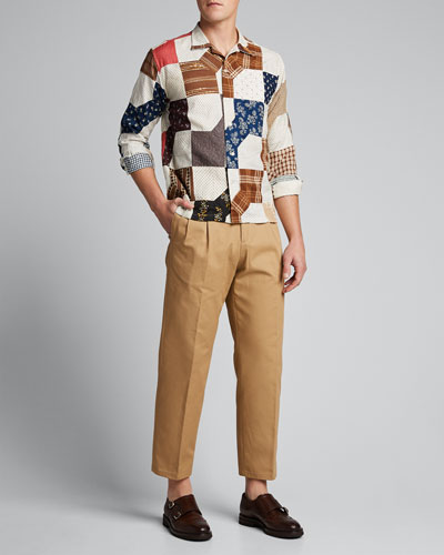 Men's Patchwork Havana Sport Shirt