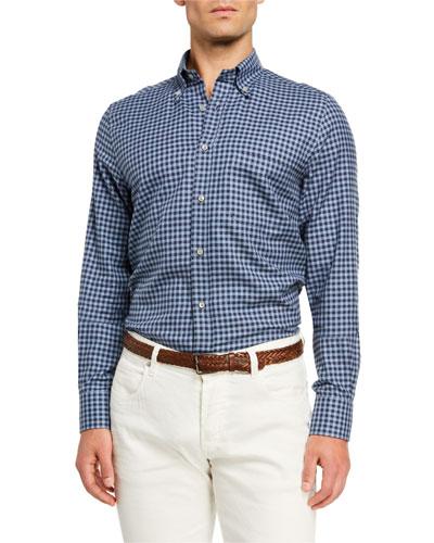 Men's Alfred Check Poplin Sport Shirt