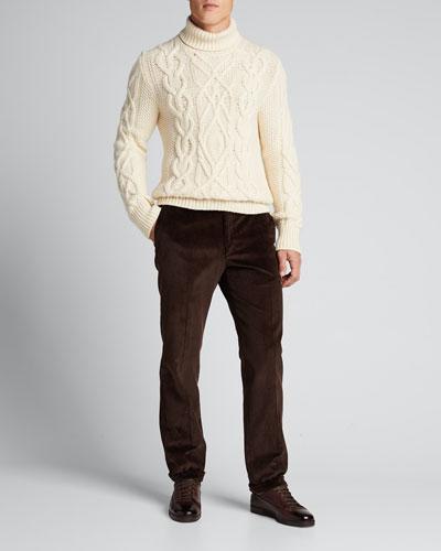 Men's Straight-Leg Corduroy Pants