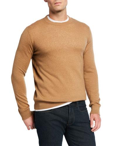 Men's Crewneck Cashmere/Silk Sweater