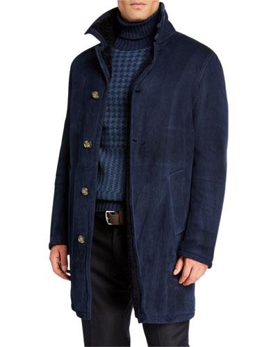 Men's Maremma Shearling-Lined Coat