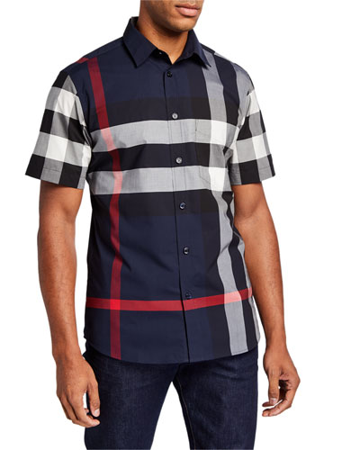 Men's Somerton Check Short-Sleeve Sport Shirt