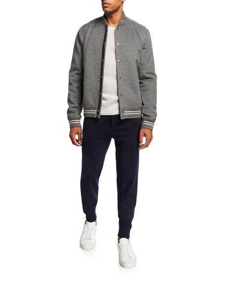 Men's Solid Wool-Cashmere Jogger Pants