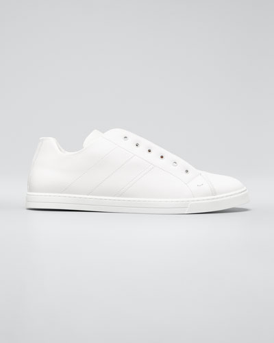 Men's Laceless Leather FF-Strap Sneakers