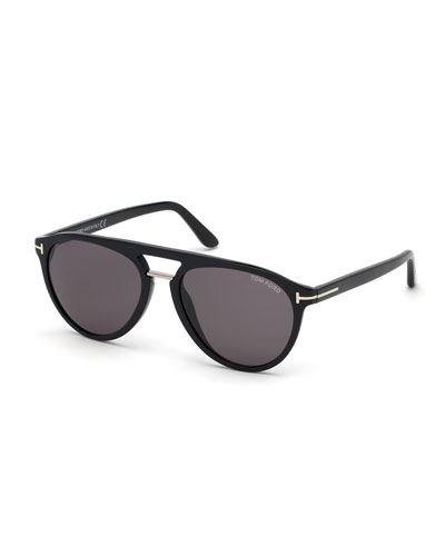 Men's Burton Double-Bridge Modern Aviator Sunglasses