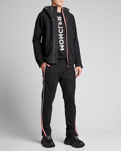 Men's Side-Stripe Straight-Leg Track Pants