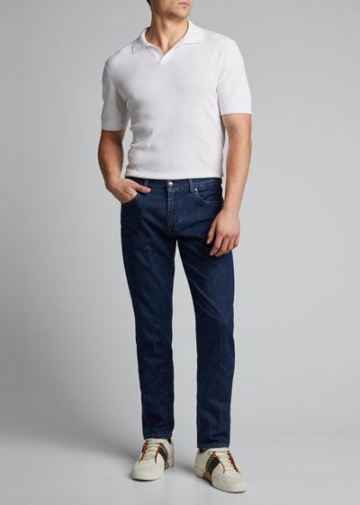 Men's Medium-Wash Super-Soft Jeans