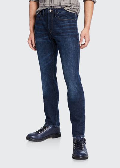 Men's L'Homme Slim Pullman Ripped-Knee Jeans