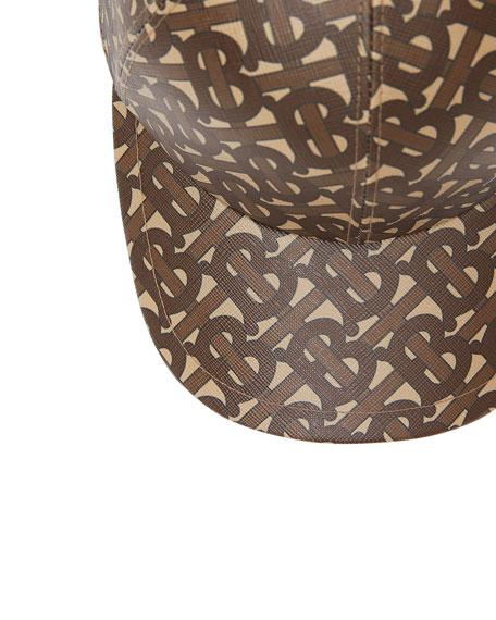 Men's TB-Monogram Coated Cotton Baseball Hat