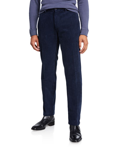 Men's Corduroy Flat-Front Pants