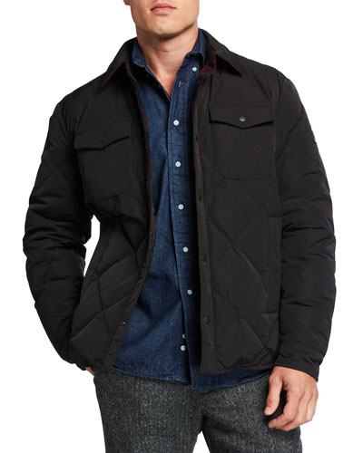 Men's Quilted Snap-Front Jacket
